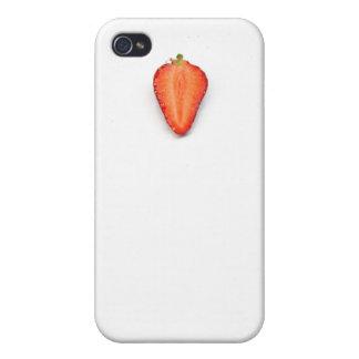Foto divertida fresca de la fresa iPhone 4 protectores
