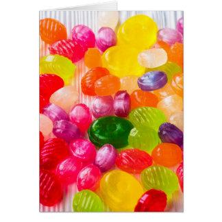 Foto dulce colorida divertida del Lollipop de la Tarjeta De Felicitación