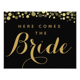 Foto El oro y el negro aquí viene la muestra del boda