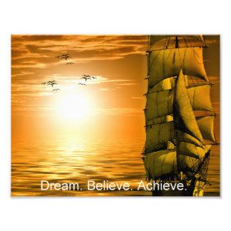 Foto el sueño cree alcanza cita de motivación