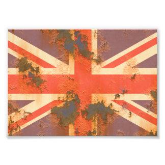 Foto El vintage aherrumbró bandera de Reino Unido