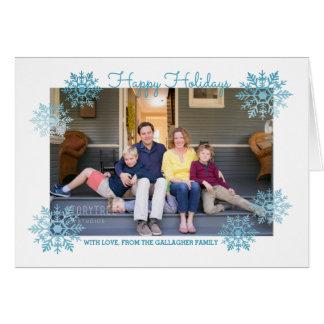 Foto elegante brillante azul del día de fiesta del tarjeta de felicitación