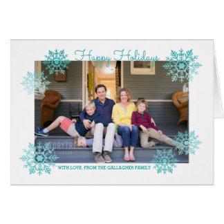 Foto elegante brillante del día de fiesta del copo tarjeta de felicitación