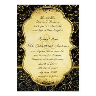 Foto en la invitación trasera del boda del