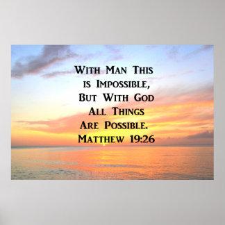 FOTO ESPIRITUAL DEL 19:26 DE MATTHEW DE LA SALIDA PÓSTER