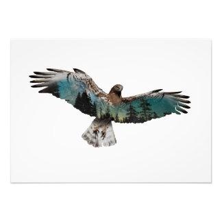 Foto Exposición doble del halcón
