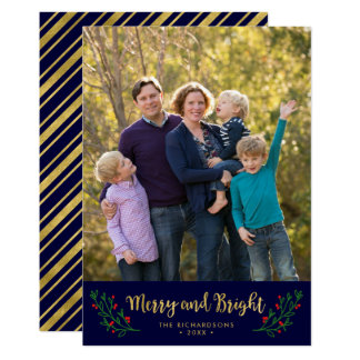 Foto feliz y brillante del follaje festivo del día invitación 12,7 x 17,8 cm
