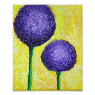Foto flor de la púrpura del allium