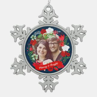 Foto floral de la guirnalda de Chevron del navidad Adornos