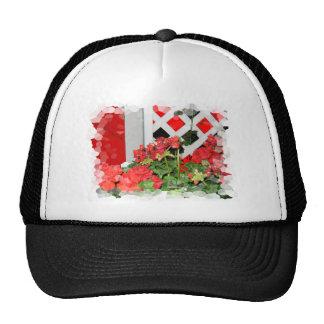 Foto floral de las flores de la naturaleza roja de gorros bordados