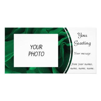 Foto floral esmeralda rica de los rosas verdes tarjeta