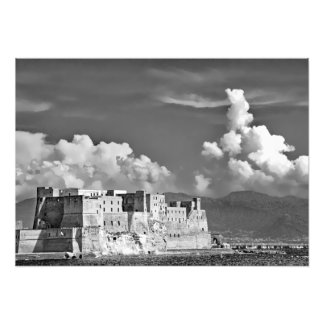 Foto Fortaleza, mar, nubes y montañas
