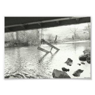 Foto Fotografía blanco y negro de la vieja puerta del