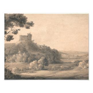 Foto Francisco Towne - castillo de Oakhampton