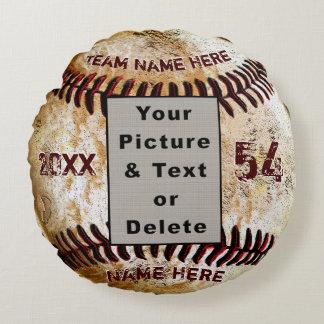 Foto fresca y almohada personalizada del béisbol