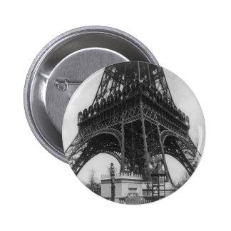 Foto from 1800 del vintage de la torre de Eifel Chapa Redonda De 5 Cm