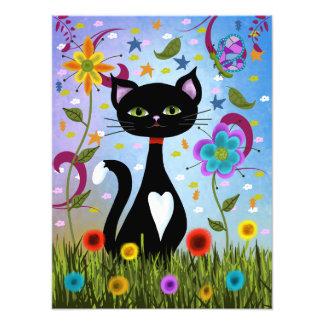 Foto Gato en un arte abstracto del jardín
