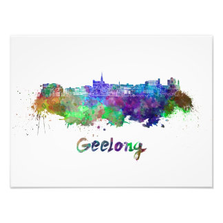 Foto Geelong skyline in watercolor