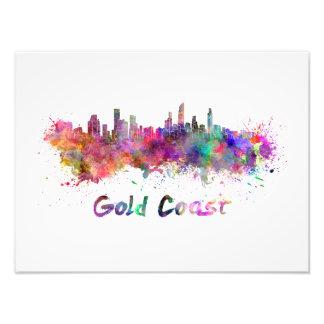 Foto Gold Coast skyline in watercolor