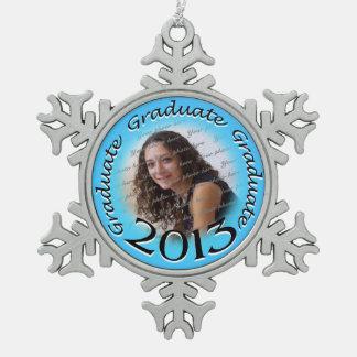Foto graduada 2013 adorno de peltre en forma de copo de nieve