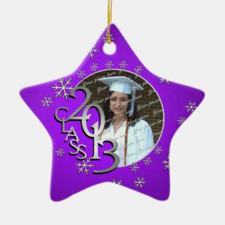 Foto graduada de 2013 estrellas adorno de cerámica en forma de estrella