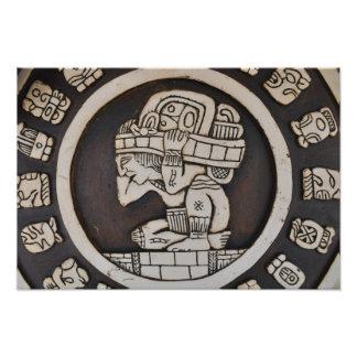 Foto Guerrero maya antiguo
