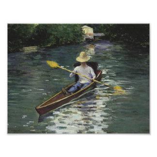 Foto Gustave Caillebotte - canoa en el Yerres