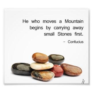 """Foto h """"él que mueve una montaña… """"(Confucio)"""