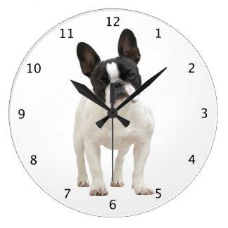 Foto hermosa linda del perrito del perro del dogo  reloj redondo grande