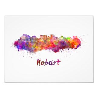 Foto Hobart skyline in watercolor