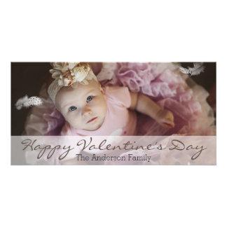 Foto horizontal del el día de San Valentín limpio Tarjetas Fotográficas Personalizadas