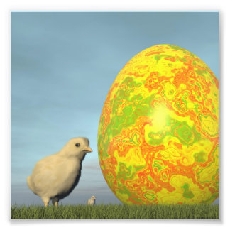 Foto Huevo y polluelos de Pascua - 3D rinden