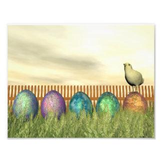 Foto Huevos coloridos para pascua - 3D rinden