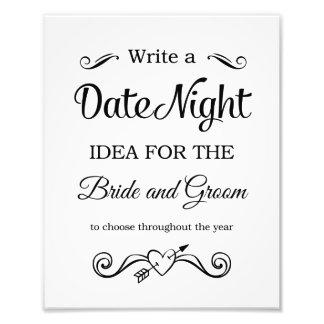 Foto Ideas negras de la noche de la fecha que casan la