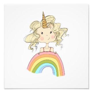 Foto Ilustracion del unicornio del chica