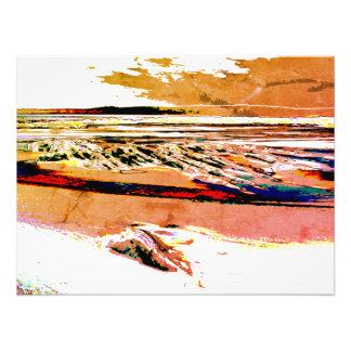 Foto Impresión anaranjada de la lona de la puesta del