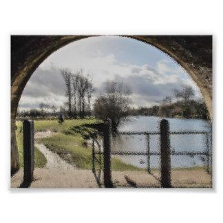 Foto Impresión del arte del paisaje del río