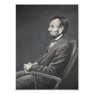Foto Impresión del arte del retrato de Abraham Lincoln