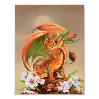 Foto Impresión del dragón 8.5x11 del melocotón