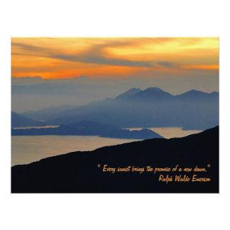 Foto Impresión oriental del poster de la niebla de la