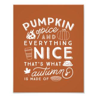 Foto Impresión tipográfica del arte del otoño de la