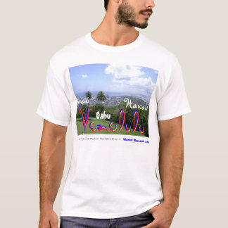 Foto impresionante de Waikiki, de Oahu, de Hawaii Camiseta
