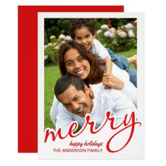 Foto indicada con letras intrépida del navidad de invitación 11,4 x 15,8 cm