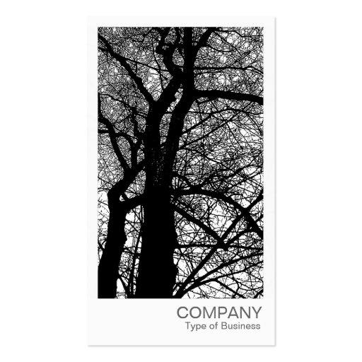 Foto inmediata - árbol del alto contraste en invie tarjetas de visita