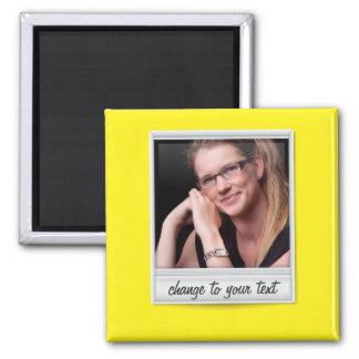 Foto inmediata - photoframe - en amarillo imán cuadrado