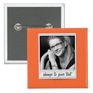 foto inmediata - photoframe - en el naranja chapa cuadrada 5 cm