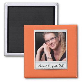 foto inmediata - photoframe - en el naranja imán cuadrado