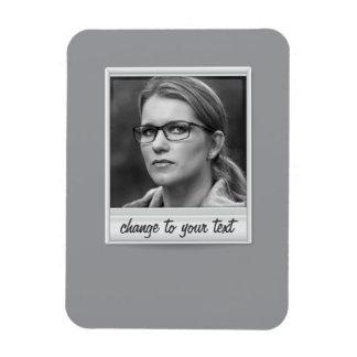 foto inmediata - photoframe - en gris imán rectangular