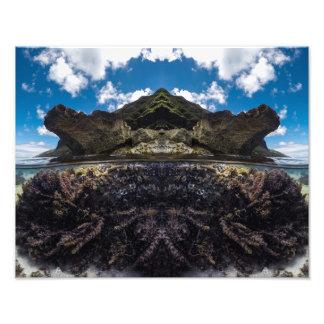Foto isla bajo arte de la pared de la impresión de la