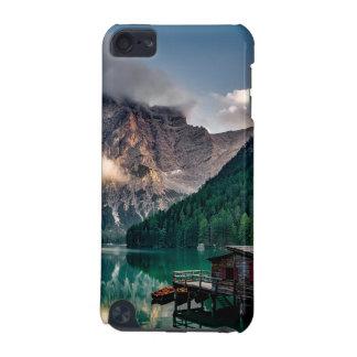 Foto italiana del paisaje del lago mountains funda para iPod touch 5